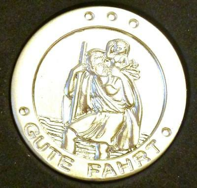 "Gilde Medaille Auto Plakette Christopherus ""Gute Fahrt"" Schutz Talisman Patron"