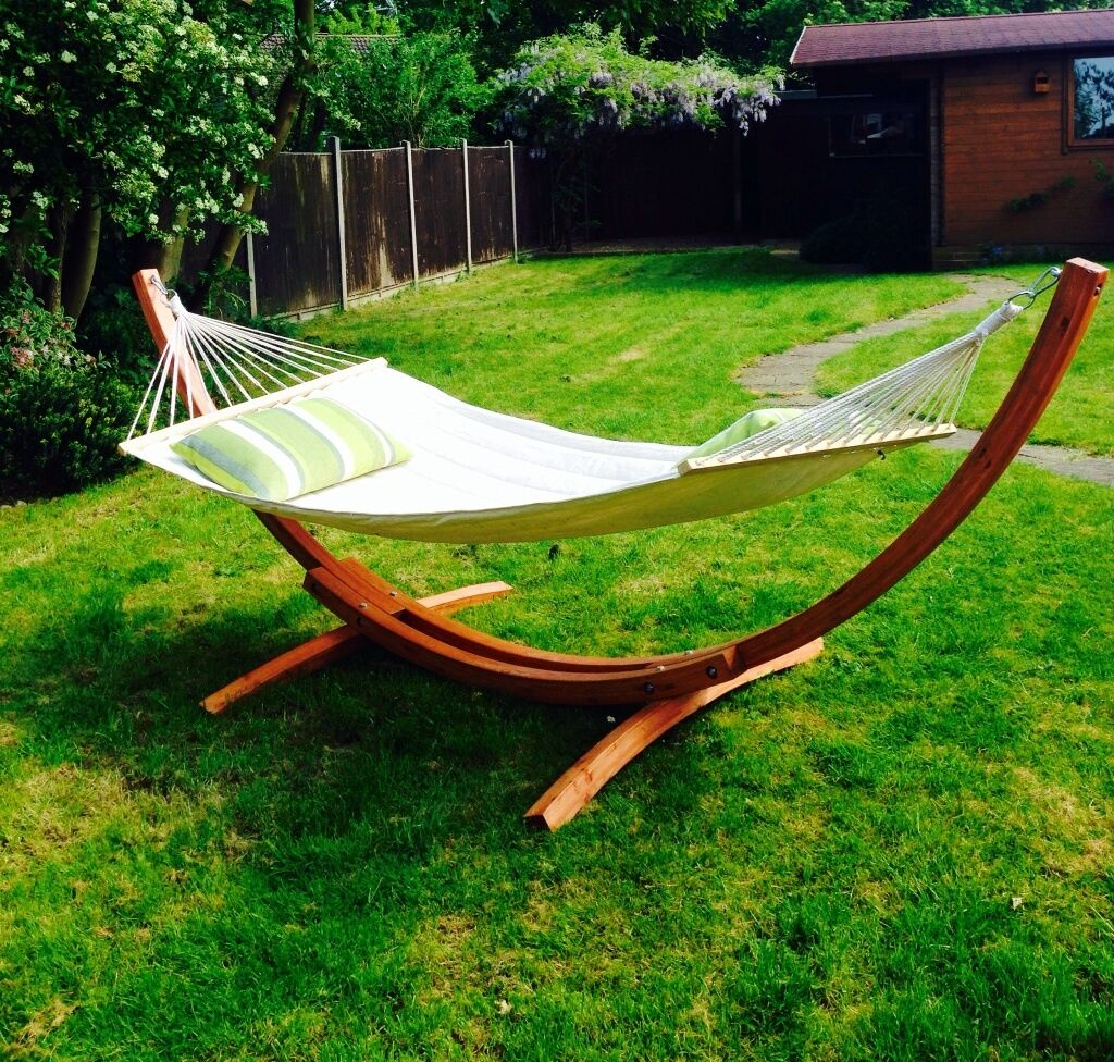 wooden bow hammock   this is a contemporary larch wood bow stand with a luxury quilted wooden bow hammock   this is a contemporary larch wood bow stand      rh   gumtree