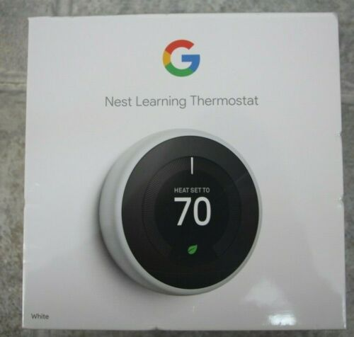 NEW Google Nest Learning Thermostat - White - T3017US