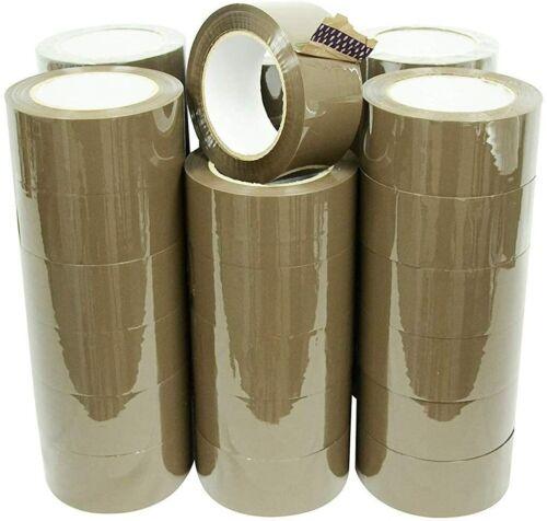 """36 Rolls Premium Brown Carton Box Sealing Packing Tape 2 Mil 2""""x110 yard"""