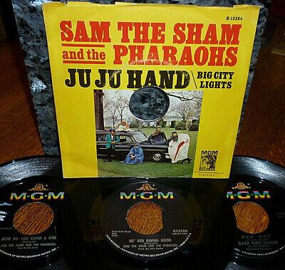 *<* 4 SAM The SHAM M- 45s LITTLE RED RIDING HOOD/JU JU HAND/RED HOT/CATCH A (Sam The Sham Little Red Riding Hood)