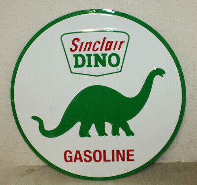 "Large Vintage Style 24"" Sinclair Dino Gas Station Signs Man Cave Garage Decor #1"