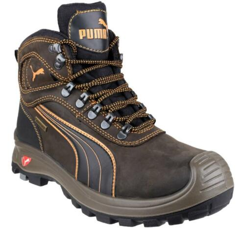Puma Safety Shoe Indy mid S3 Hro Src Brown//Black 632180 Work Boot