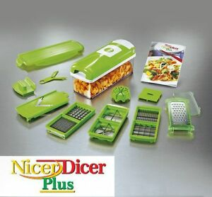 Picador de comida nicer dicer plus corta verduras alimentos genius picadora tv ebay - Picadora alimentos ...