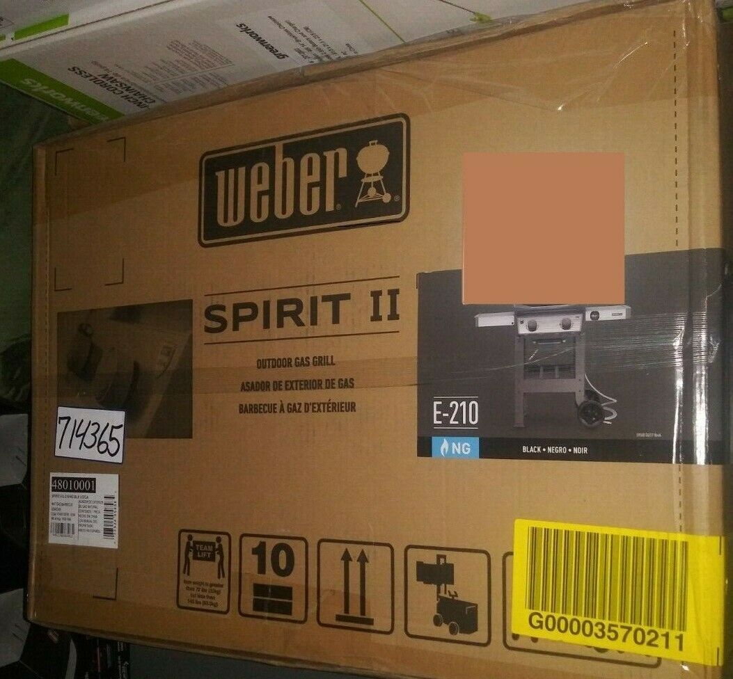 Weber-Stephen Products SpirII E210BLK NG Grill