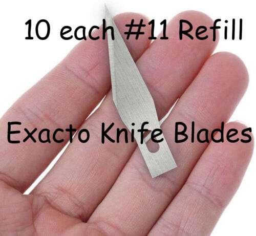 10 each #11 Exacto Knife Blades Refills, High Carbon Steel - Ships from Colorado