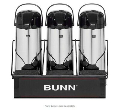 3 Airpot Serving Rack Bunn For Coffee Machine Maker Apr3 W Sponge Trays 311035