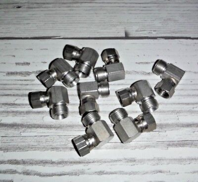 Lot Of New 14 Nps F X 38 Nps M 90 Degree Angle Sst Elbow Fittings