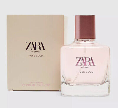 ZARA ROSE GOLD 100ml EAU DE PARFUM Brand New Sealed EDP Sealed Free Postage