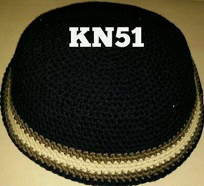 Kippah Kippot Kipa Jewish Judaica Handmade Knitted kippah Yarmulke Yamaka 18cm.)