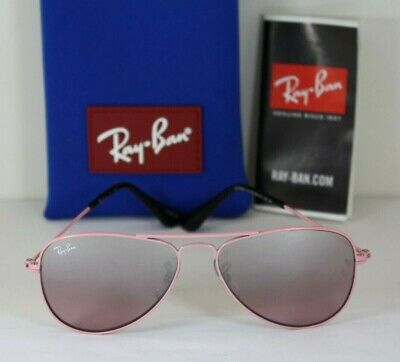 NEW AUTHENTIC RAY BAN Junior Pink Aviator RJ 9506S 211/7E Girl's (Ray Ban Girl Sunglasses)