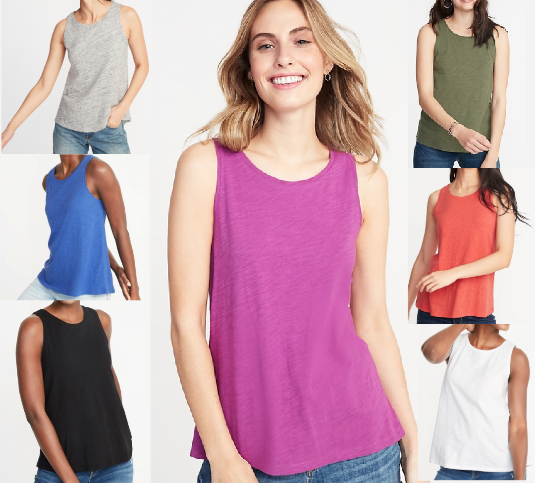 ladies everywear slub knit tank tops womens