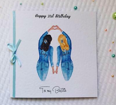Beautiful Birthday Card for Best Friend/ Sister/ cousin etc 25th 30th 35th 40th