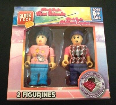 Block Tech Figures PEOPLE 2PK GIRL BEST FRIENDS COMPATIBLE WITH OTHER BRANDS