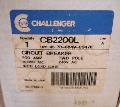 New Challenger Cb2200 Cb2200l Circuit Breaker Switch 200 Amp 2 Pole