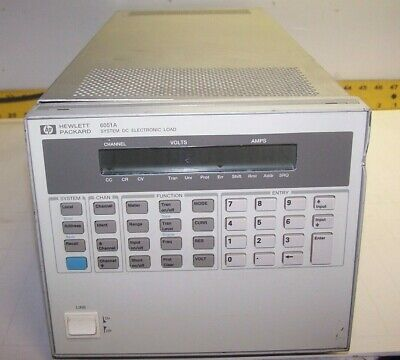 Hp 6051a System Dc Electronic Load Mainframe 120 Vac 635 Va