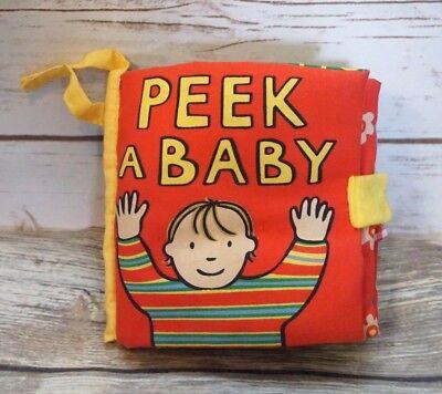 Little Jellycat Peek A Baby Soft Cloth Book