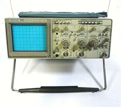 Tektronix 2220 - 60mhz Bandwidth Digital Storage Oscilloscope -free Shipping