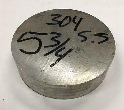5 34 Diameter 304 Stainless Steel Round Bar 5.75 X 1.5 Length