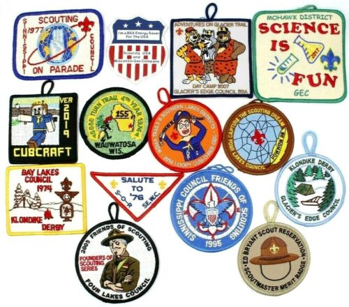 Lot of 14 Wisconsin Boy Scouts Patches BSA