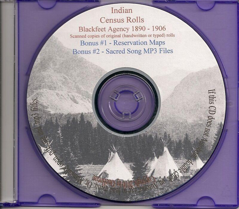 Blackfeet Agency Indian Census Rolls 1890-1906
