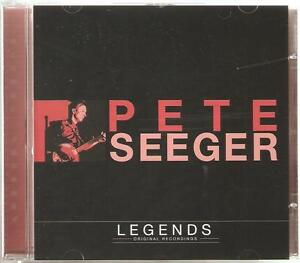 PETE SEEGER LEGENDS CD ORIGINAL RECORDINGS - DOWN IN THE VALLEY & MORE