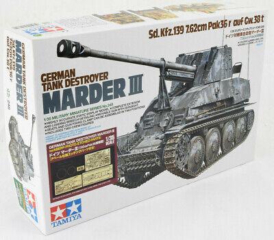 Tamiya Marder III - German Tank Destroyer 1/35 Plastic Model Tank Kit 25161 (Tank Plastic Model)