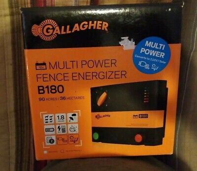 Gallagher B180 Multi Power Fence Energizer-289-329 Retail- Save Now