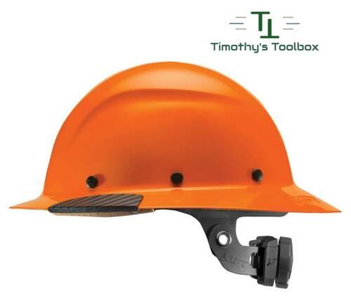 LIFT Safety DAX HiVis Orange Full Brim Hard Hat w/ Ratchet Suspension