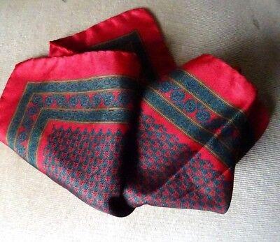 Pochette Einstecktuch 33x33cm Reine Seide handrolled Krawattenmuster mehrfarbig