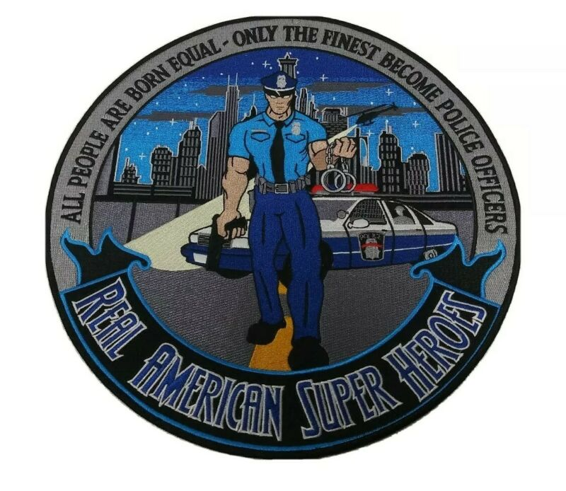 """Heroes Pride Tribute Collection Real American Super Hero 12"""" Patch POLICE"""