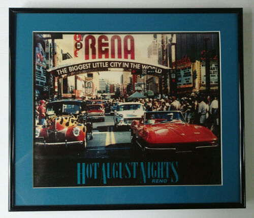 1992 Reno HOT AUGUST NIGHTS Car Automoble Show Print Framed