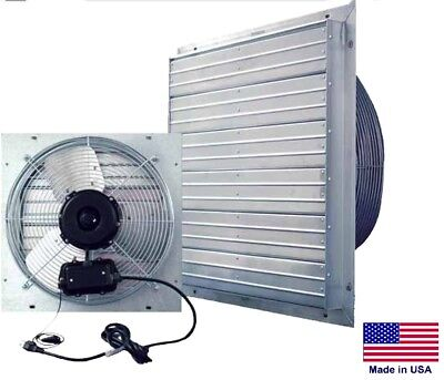 Exhaust Fan Industrial - Direct Drive - 12 - 115v - 1 Ph - 3 Speed - 1100 Cfm