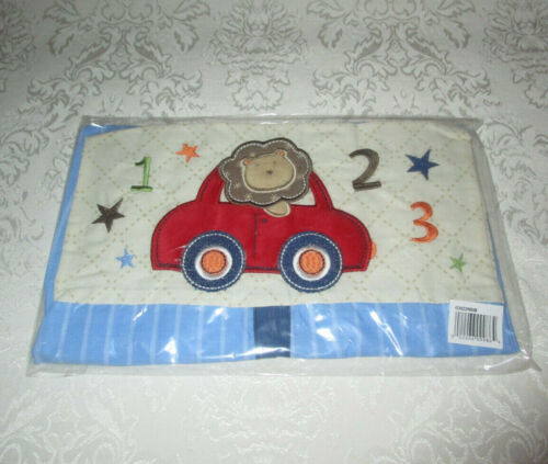Lion in Car 123 Hanging Cloth Diaper Stacker BLUE Boy