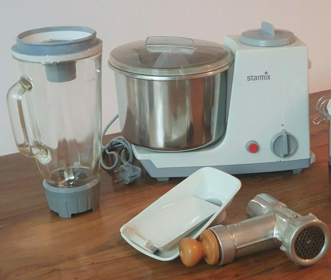 Starmix MX3 Küchenmaschine mit Schüssel, Glasmixer und Fleischwolf