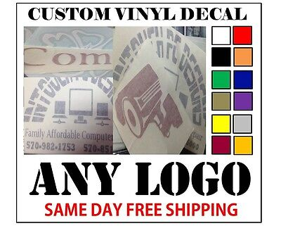 Home Decoration - CUSTOM VINYL DECALS / STICKER - ANY LOGO OR IMAGE - FAST FREE SHIPPING