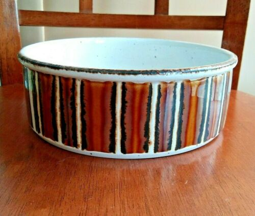 """MIDWINTER ENGLAND STONEHENGE """"Earth"""" 8"""" round Vegetable CASSEROLE Bowl Serving"""