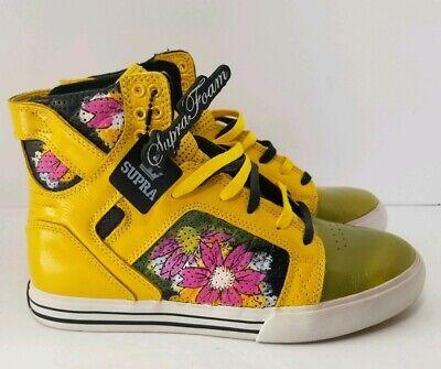 Supra Skytop Muska Pro Yellow Skate Shoes - Muska Skytop Skate Shoes
