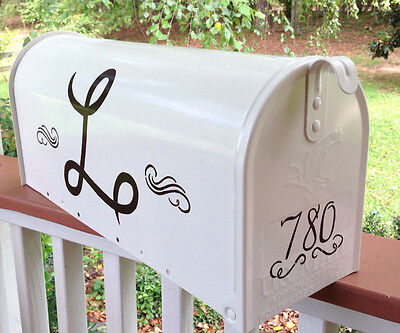Hand Painted Mailbox (Your) Personalized Monogram Post -