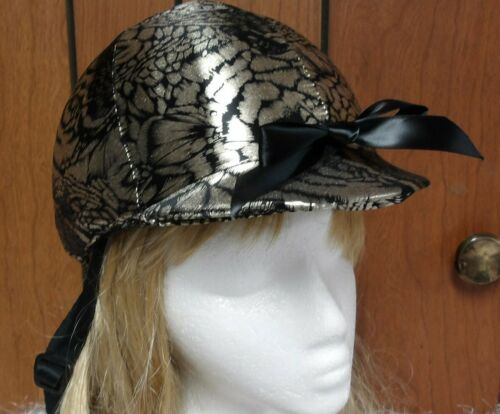 Hunt Helmet Cover Black with Leopard Foil Print