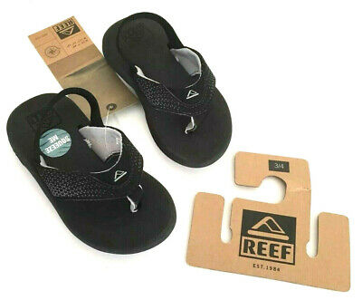 Thong Heel Schuh (REEF Grom Rover Toddler Sandals Flip Flops Thong Black Heel Strap NWT Size 3/4 )