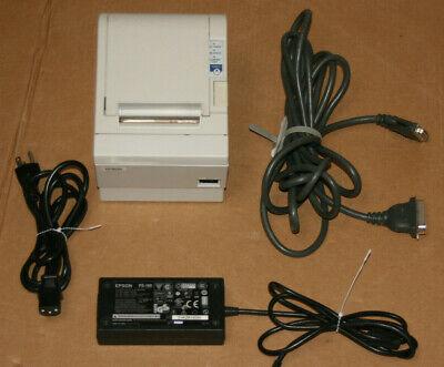 Epson White Thermal Receipt Printer Pos Tm-88iiip M129c 14 Ft Parallel Cable