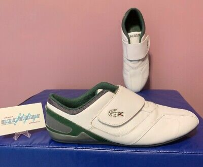 Lacoste Protect LE SPM Strap Leather Men's Sneakers US Size 9 White Green Nice