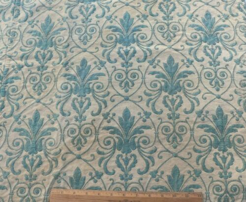 """Antique French Blue Double Woven Cotton/Wool Frame Fabric c1870~L-25"""" X W-35"""""""