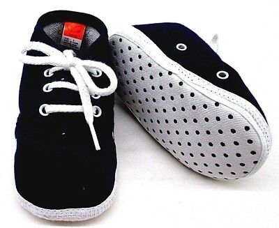 Newborn Shoes Boy Baby Non Slip Size 3 With Shoe Lace Navy 9