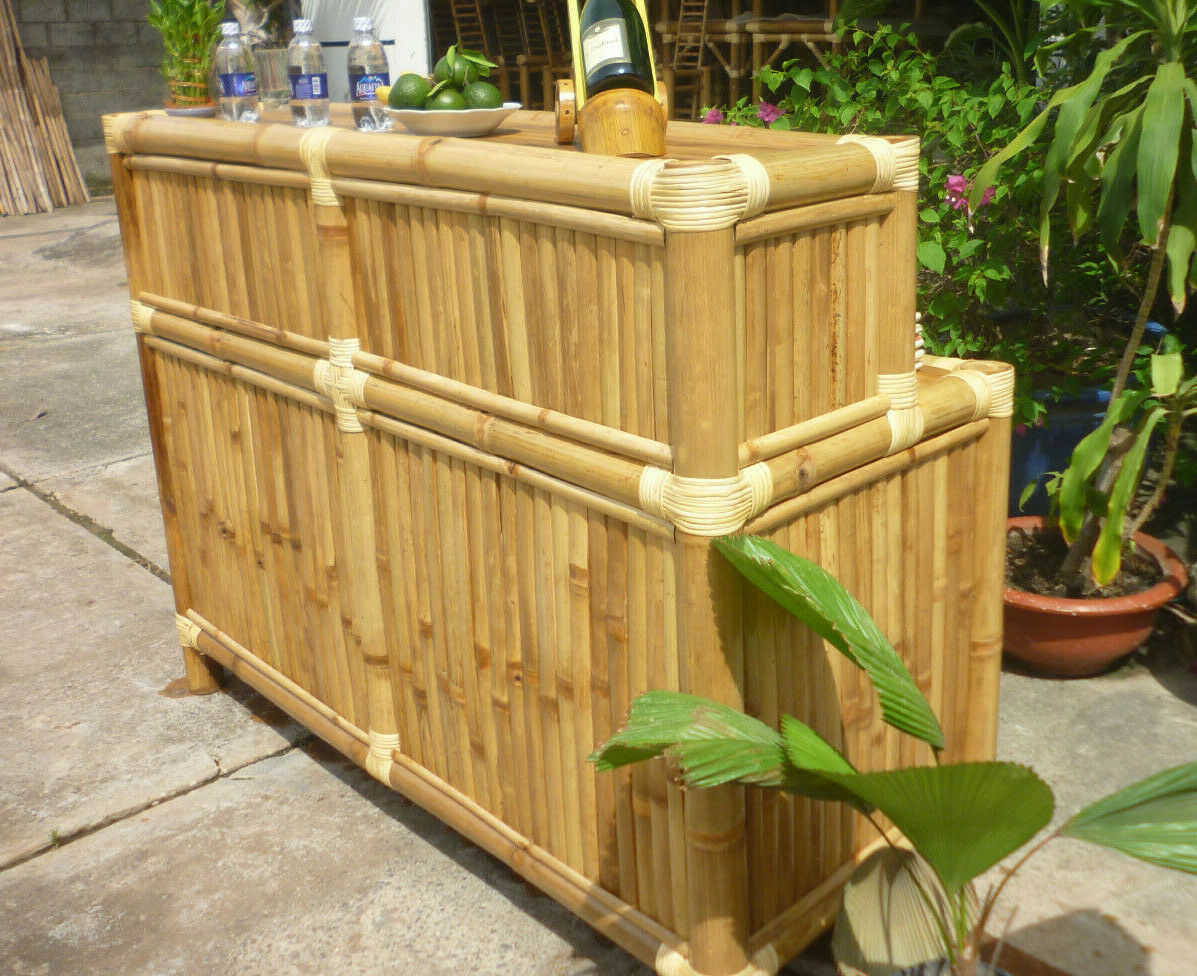 Garden Furniture - TIKI Polynesian Patio Bar Furniture Garden Deck Pool Bamboo BEST BUY ROMA BAR