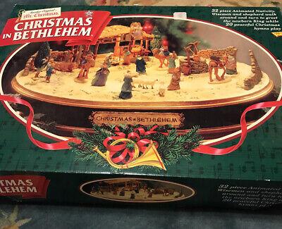 Vintage Mr Christmas Animated Musical Nativity Set Christmas in Bethlehem 1997