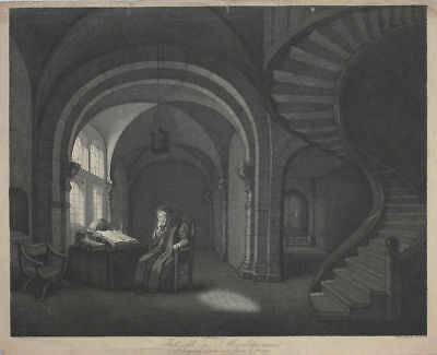 Giuseppe Longhi (1766-1831) - Meditierender Philosoph  nach Rembrandt