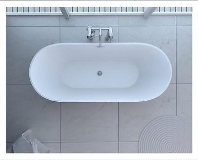 """New Bathtub Acrylic KBM Modern Seamless Bathroom Soaking Overflow Bath tub 60"""""""