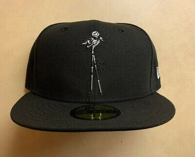 Jack Skellington Nightmare Before Christmas New Era 59FIFTY Fitted Cap Hat 7 1/4